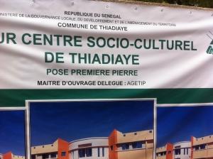 THIADIAYE : Un centre socioculturel pour les jeunes dans 10 mois.
