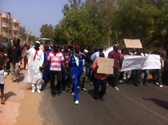 SALY Portudal :   Les déflatés de l'hôtel Espadon battent le macadam