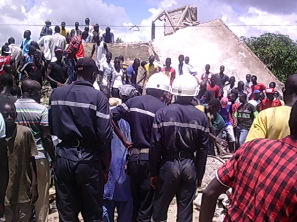 Effondrement d'un immeuble à Thiadiaye :   Un mort et 3 blessés