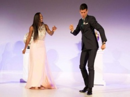 Danse endiablée entre Serena Williams et Novak Djokovic !