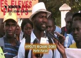 EDUCATION : Les diplômés du CNEPS de Thiès battent le macadam pour exiger leur recrutement