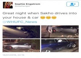 West Ham : Diafra Sakho  percute un mur et une autre voiture avec son bolide!