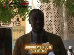 [VIDEO] EDUCATION - CRISE DANS L'ESPACE SCOLAIRE : Le G6 ne considère plus Serigne Mbaye Thiam comme son interlocuteur.