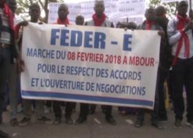[VIDEO] EDUCATION-Marche de la FEDER-E à Mbour: 'Les enseignants ne demandent l'aumone à personne, nous exigeons nos droits