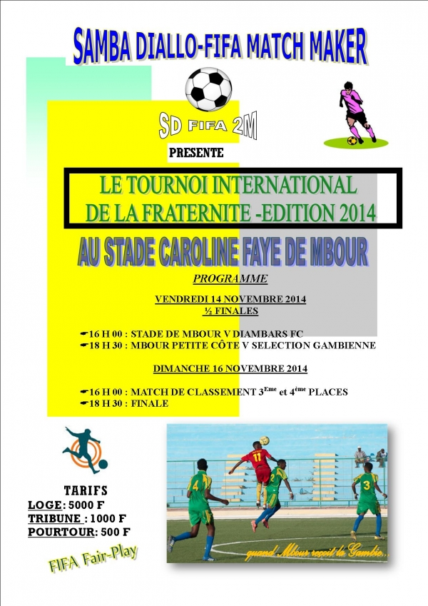 Tournoi international de la FRATERNITE DE MBOUR