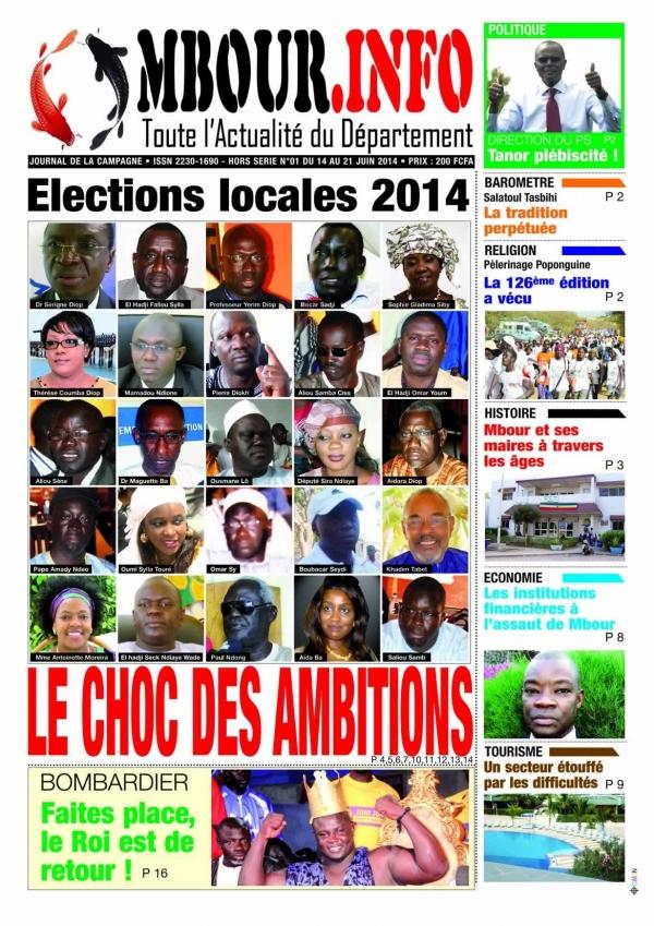 VOTRE JOURNAL DE CAMAPAGNE EST DANS VOS KIOSQUES LE 14 JUIN 2014