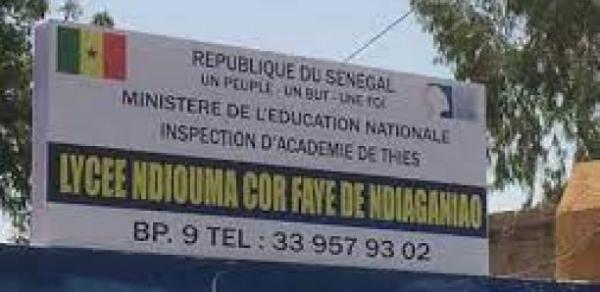 EDUCATION – LYCEE DE NDIAGANIAO : pour s'opposer à un bac-blanc, les élèves mettent à sac la salle des professeurs, et l'administration veut porter plainte contre X.