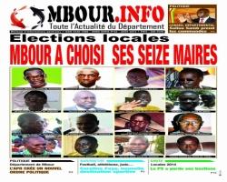 VOTRE JOURNAL MBOUR INFO DU MOIS D'AOÛT DANS VOS KIOSQUES !!!
