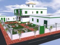 DIASS - POSE PREMIERE PIERRE  MATERNITE DE BOUKHOU : Cheikh Tidiane Diouf construit une maternité d'un cout global de 16 millions de francs Cfa